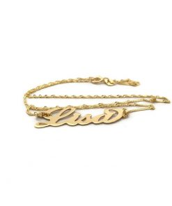 14k Gold Name Necklace