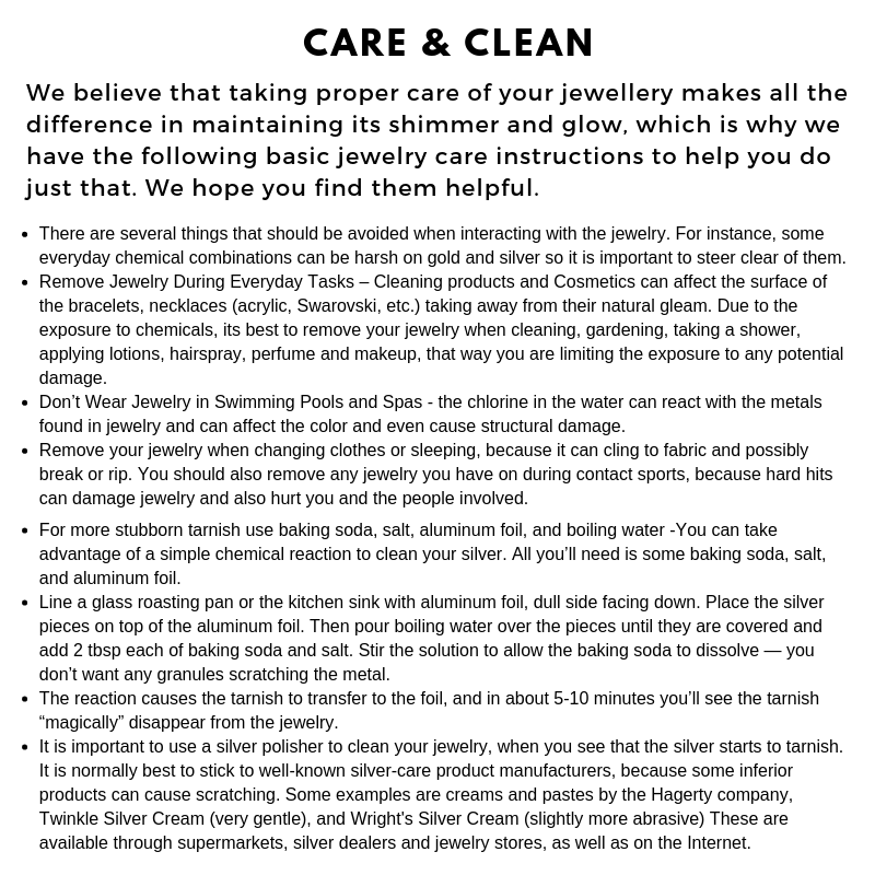 sterling silver care and cleaning