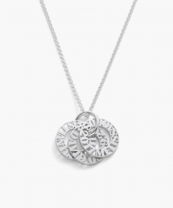 token circle sterling silver